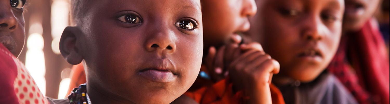 Maasai children in school in Tanzania, Africa.