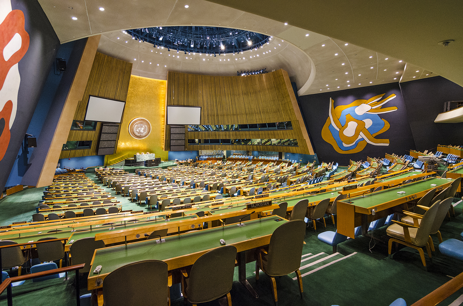 The United Nations General Assembly Hall