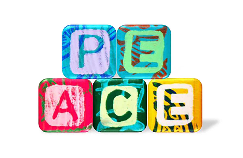 The multi-colored building blocks of peace.