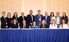 """Assembly of ECPC members and guest speakers at the Yale 2018 conference """"Early Childhood Development advances The Culture of Peace"""". © NS Fallon."""