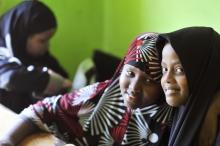 Happy Somalian school girls, Kuala Lumpur, Malaysia.