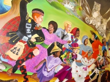 """Children of the World Dream of Peace"" mural by Leo Tanguma at the Denver International airport."