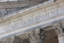 """The words """"Good Government"""" on a neoclassical facade. ID 51459059 © Jannis Werner   Dreamstime images."""