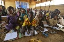 Nigerian school children engage in UNICEFs PBEA program.