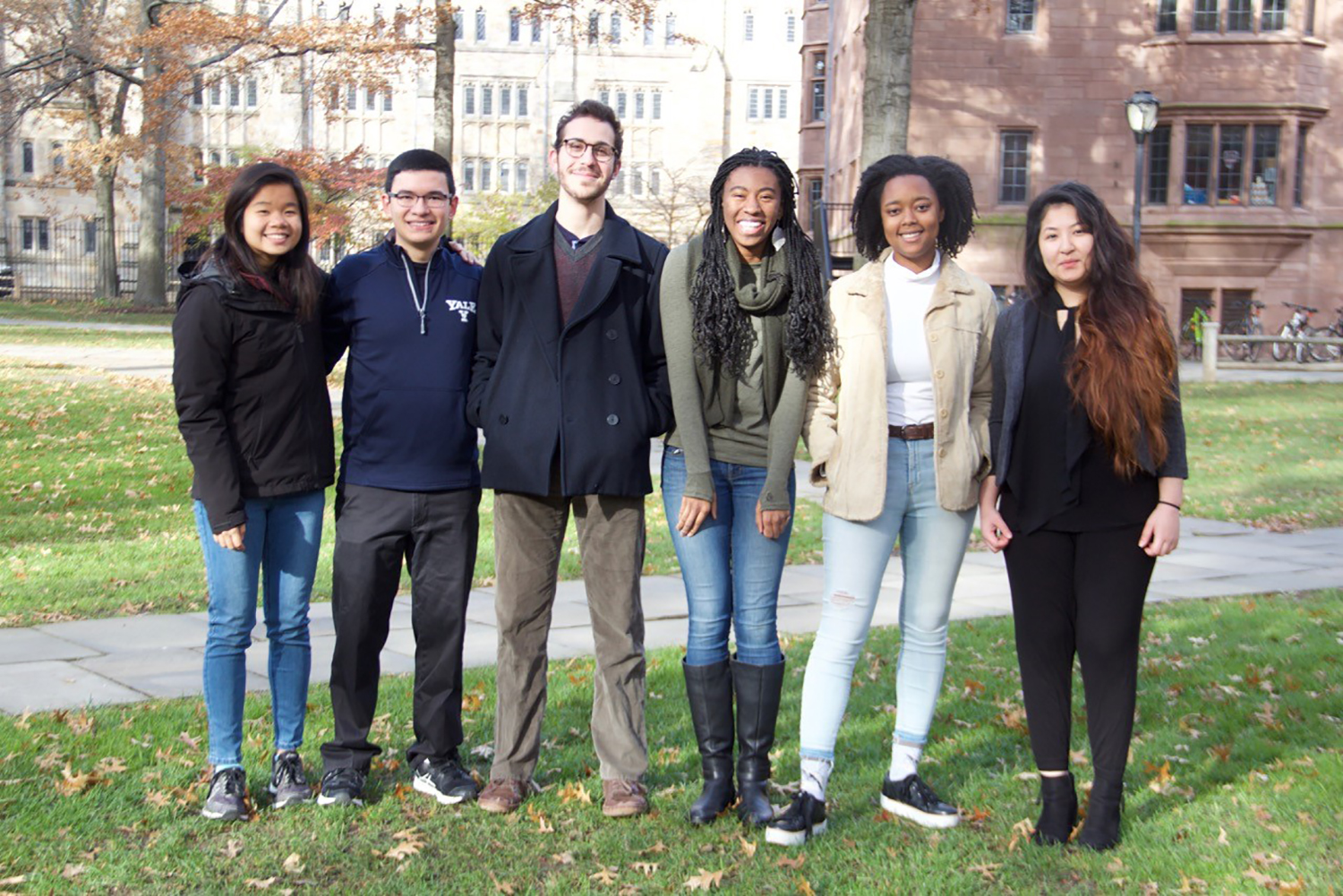 Yale student members of the Teaching Peace Initiative